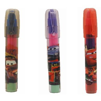 3 Piece Disney Cars 3 POP Rocket Eraser Stick Party Favors Set