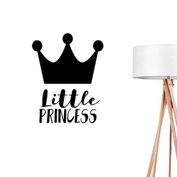 Little Princess Wall Decal, Typography Wall Sticker, Kids Sticker, Typography Decal, Nursery Decal, Bedroom Wall Decal, Girls Room Decal