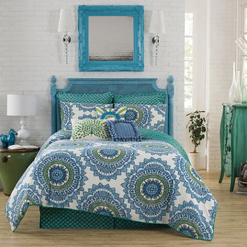 Anthology™ Bungalow Reversible Comforter Set in Teal