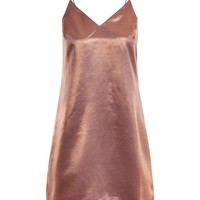 Pink Metallic Slip Dress