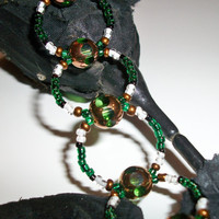 Womens Green Beaded Bracelet
