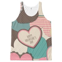Happy Valentine's Day All-Over-Print Tank Top
