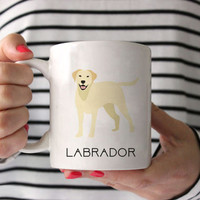 Labrador Coffee Mug - Labrador Ceramic Mug  - Dog Mug - Gift for Coffee Lovers - Labrador Lover Gift - Labrador lover mug - Labrador decor