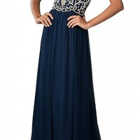 MISSYDRESS Women Beaded Strapless Chiffon Bridesmaid Evening Party Gown Prom Dress 14