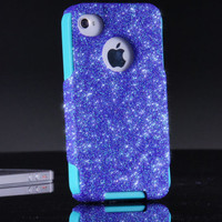 Otterbox Custom Case iPhone 4 4S - Fairy Dust Glitter iPhone 4S Case - iPhone 4 4S Cover Sparkly Bling Otterbox Commuter Case