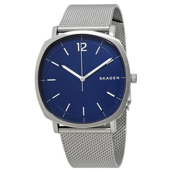 Skagen Rungsted Blue Dial Mens Mesh Watch SKW6380