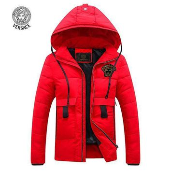 Versace Fashion Down Cardigan Jacket Coat Hoodie-1