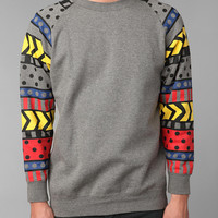 Lazy Oaf Pattern Sleeve Crew Sweatshirt
