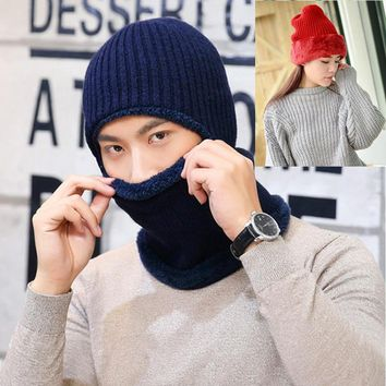 Full Face Mask Ski Cap Warm Face Knitted Thicken Hats Motorcycle Scarf Head Beanie Cycling Hiking Snowboarding Skiing Mask Bibs