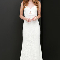 What a Doll Ivory Lace Maxi Dress