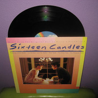 SUMMER SALE Rare Vinyl Record Sixteen Candles Music From The Original Soundtrack EP/Lp 1984 John Hughes Teen Classic