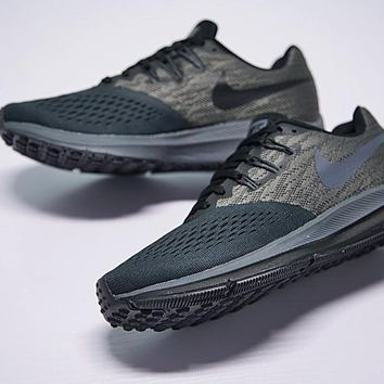 "nike zoom WINFLO 4 Running Shoes ""Dark Grey Black""898466-004"