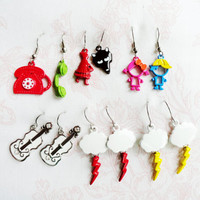Wholesale earrings funky jewelry bulks, funky earrings, wholesale party accessories, jewelry lots colorful earrings birthday favor