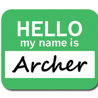 Archer Hello My Name Is Mouse Pad