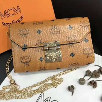 One-nice™ MCM Women Shopping Leather Metal Chain Crossbody Satchel Shoulder Bag H-A-XYCL