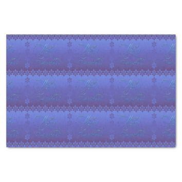 "Blue Merry Christmas 10"" X 15"" Tissue Paper"