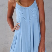 Festival Dreams Dress Blue - Womens