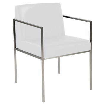 Desk Sophie  Chair, White/Silver, Desk Chairs