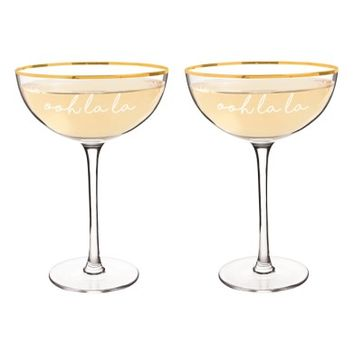 Cathy's Concepts Ooh La La Set of 2 Champagne Coupes | Nordstrom