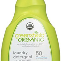 GreenShield Organic USDA Organic Free & Clear Laundry Detergent, 50 oz-Unscented