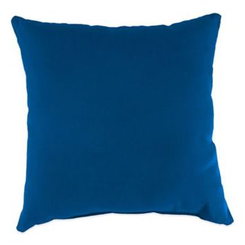 Sunbrella® Outdoor Square Throw Pillow in Canvas Navy