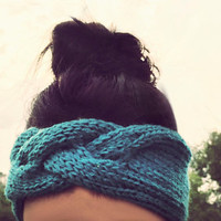 Braided Twist Knitted Headband, Knit Headband, Knit Beanie, Turban, Cute Turban Headband, Ear Warmer, Winter Hairband