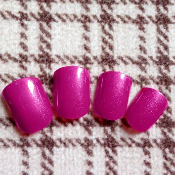 24Pcs Glitter Wine Red Candy False Nails Lady Fake Nail Tips For Fingers Full Cover Manicure Nails Tool 007S
