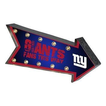 New York Giants Sign Marquee Style Light Up Arrow Design
