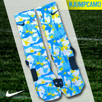 Custom Nike Elite Socks - Jumpman Camo | Lacrosse Unlimited