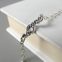 Silver Reading Glasses Chain with Antique Detailwork