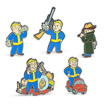 Fallout Enamel Pins 5-Pack Set 3