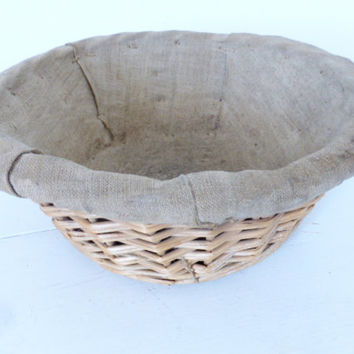 Antique French Bread Proving Basket