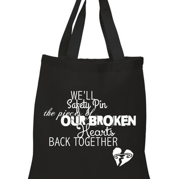 "5 Seconds of Summer 5SOS ""Safety-Pin"" 100% Cotton Tote Bag"