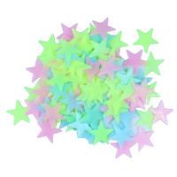 Glow Wall Stickers 100pcs/lot Decal Baby Kids Bedroom Home Decor Color Stars Luminous Fluorescent 3 colors DA