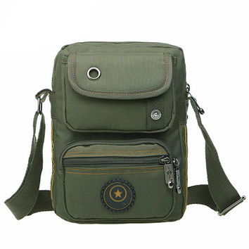 Canvas Messenger Crossbody Bag