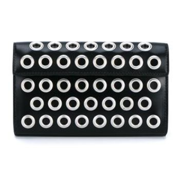 AZZEDINE ALAÏA | Small Grommet Leather Envelope Clutch | Womenswear | Browns Fashion