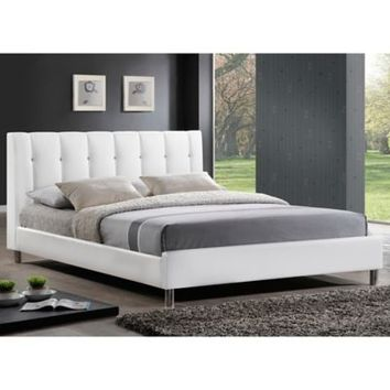 Vino Designer Bed with Upholstered Headboard