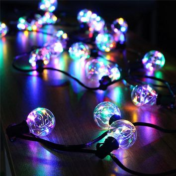 Waterproof 5.5M/18Ft G40 Globe Bulbs LED String Lights Indoor Outdoor LED Fairy Lights Holiday Light For Christmas Hallowmas