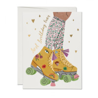 RED CAP CARDS BEST BIRTHDAY EVER ROLLER SKATE CARD