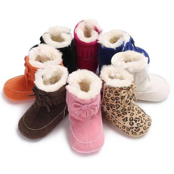 Lovely Baby Girls Soft Sole Snow Booties