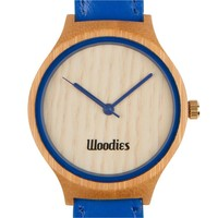 Blue Bamboo Wood Watch