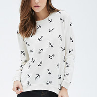 Anchor Print Sweatshirt