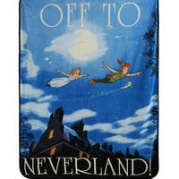Disney Peter Pan Off To Neverland Super Plush Throw