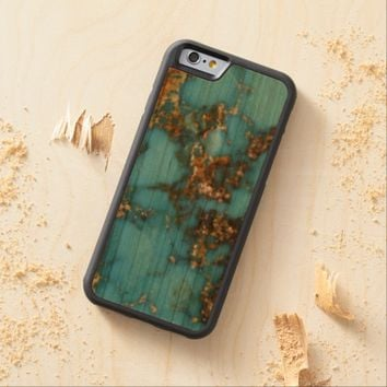 Natural Turquoise Stone Carved® Cherry iPhone 6 Bumper