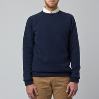 Wool Sweatshirt Navy