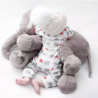 Christmas Baby TOY Must Have ELEPHANT Trending PILLOW Plush Cuddly Large Wild Safari Animal Teddy Infant Baby Appease Decor Xmas Baby Gift