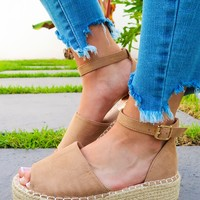 Lost In You Wedges: Tan