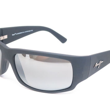 Maui Jim World Cup MJ 266-02MR Dark Gunmetal/Black Polarized Sunglasses