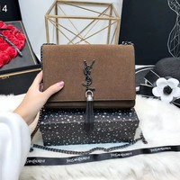 NEW 2019 YSL Women Shopping Leather Metal Chain Crossbody Satchel Shoulder Bag
