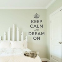 """Keep Calm and Dream On Wall Quote Decal Black 28"""" wide x 48"""" high:Amazon:Home & Kitchen"""
